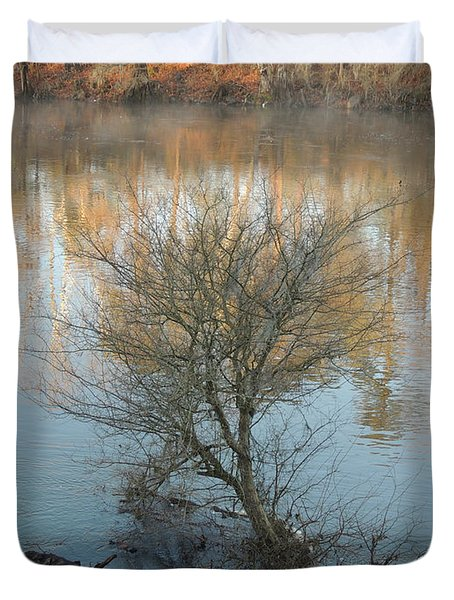 Duvet Cover featuring the photograph Flint River 24 by Kim Pate