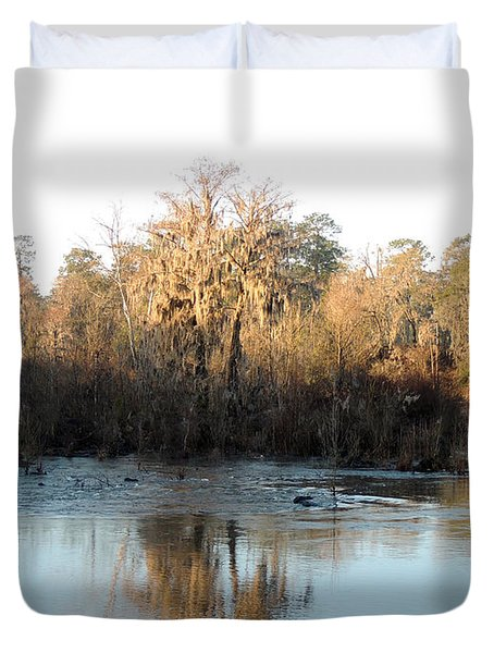 Duvet Cover featuring the photograph Flint River 27 by Kim Pate