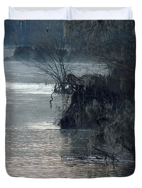 Duvet Cover featuring the photograph Flint River 28 by Kim Pate