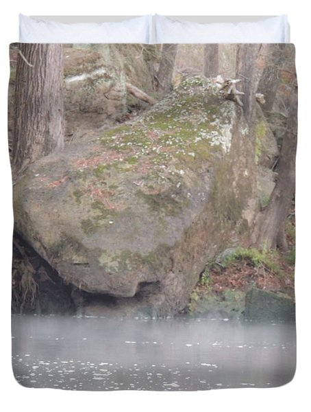 Duvet Cover featuring the photograph Flint River 5 by Kim Pate