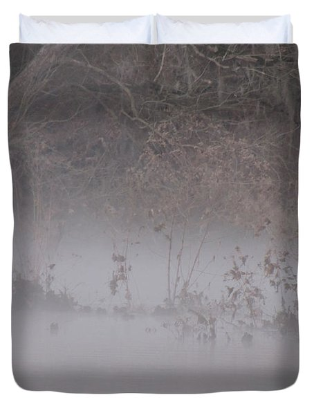 Duvet Cover featuring the photograph Flint River 7 by Kim Pate