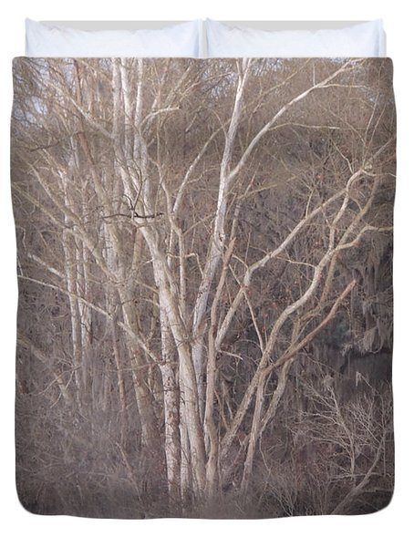 Duvet Cover featuring the photograph Flint River 9 by Kim Pate