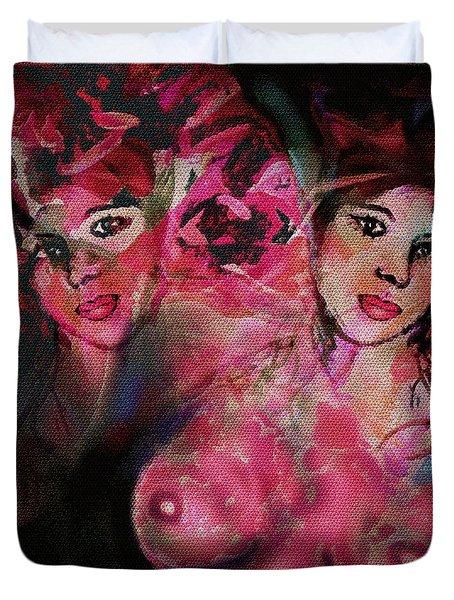 Flirts Duvet Cover by Natalie Holland