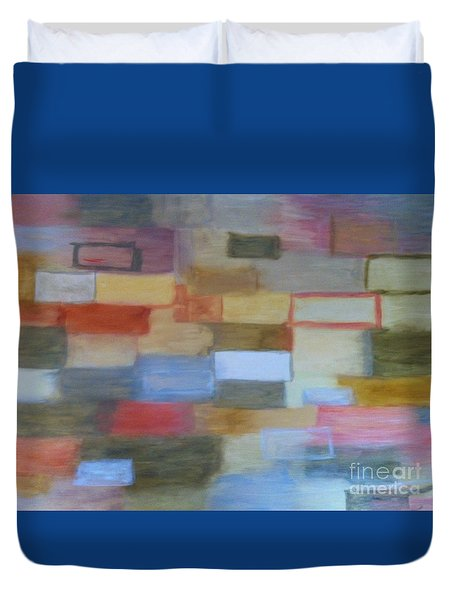 Duvet Cover featuring the painting Float by Mary K Conaboy