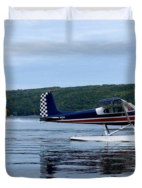 Float Planes On Keuka Duvet Cover