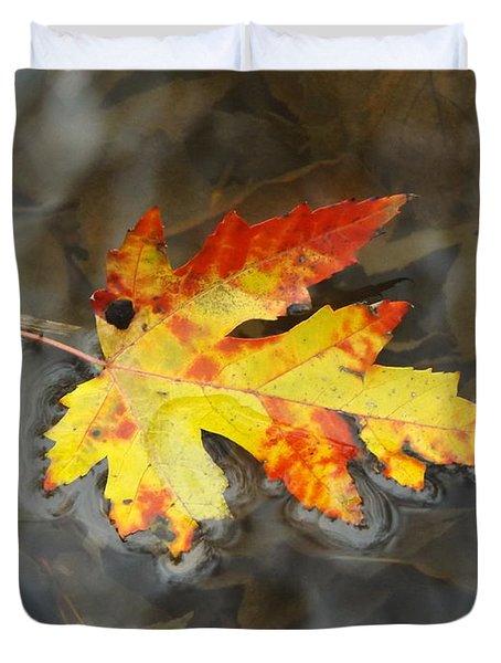 Floating Autumn Leaf Duvet Cover