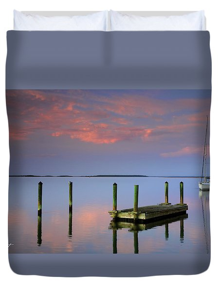Floating Docks Duvet Cover by Phill Doherty