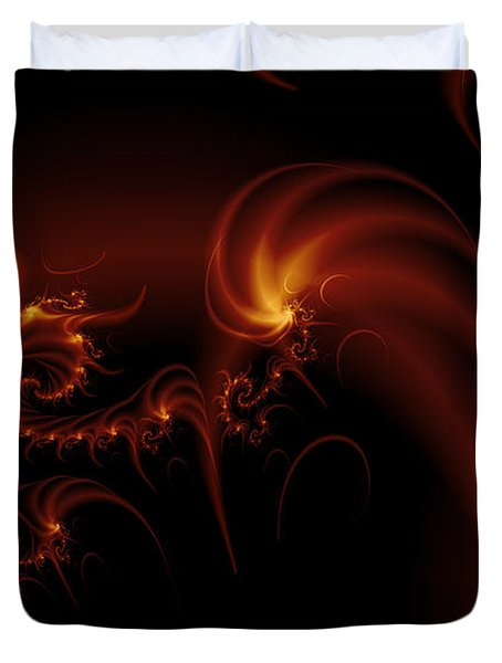 Floating Fire Fractal Duvet Cover