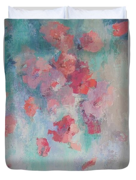 Floating Flowers Painting Duvet Cover