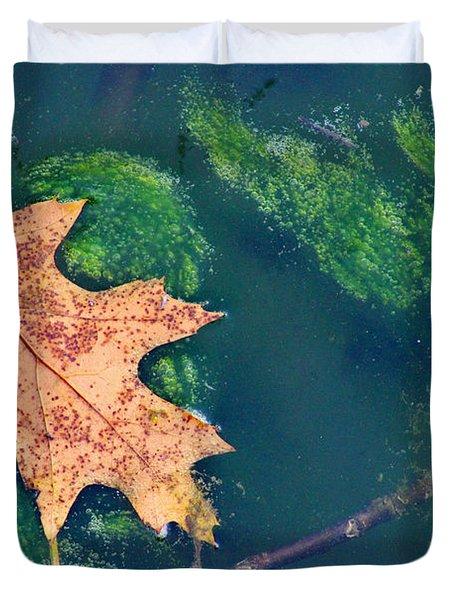 Floating Leaf  Duvet Cover by Karen Adams