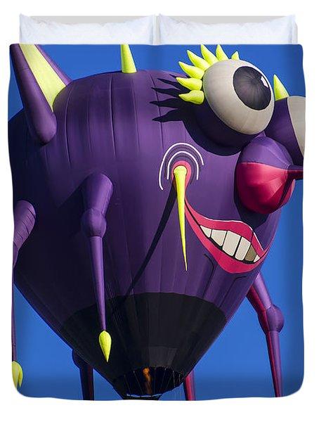 Floating Purple People Eater Duvet Cover