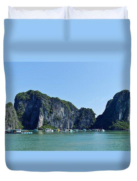 Floating Village Ha Long Bay Duvet Cover