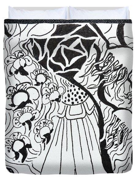 Floating Zen Duvet Cover by Beverley Harper Tinsley
