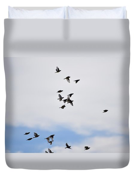 Flock Of Birds II Duvet Cover