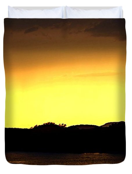 Flood Me With Your Light Duvet Cover by Sharon Soberon