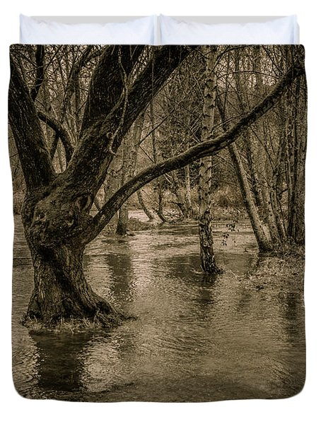 Flooded Tree Duvet Cover