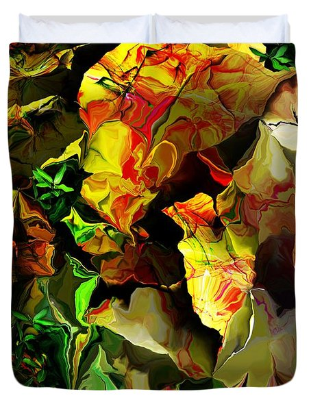 Duvet Cover featuring the digital art Floral 082114 by David Lane