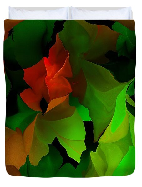 Duvet Cover featuring the digital art Floral Abstraction 090814 by David Lane