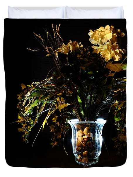 Duvet Cover featuring the photograph Floral Arrangement by David Andersen