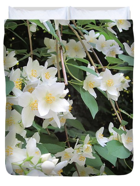 Duvet Cover featuring the photograph Floral Cascade by Pema Hou
