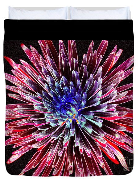 Floral Color Burst Duvet Cover
