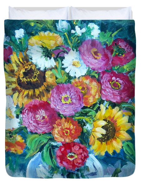 Floral Explosion No.1 Duvet Cover