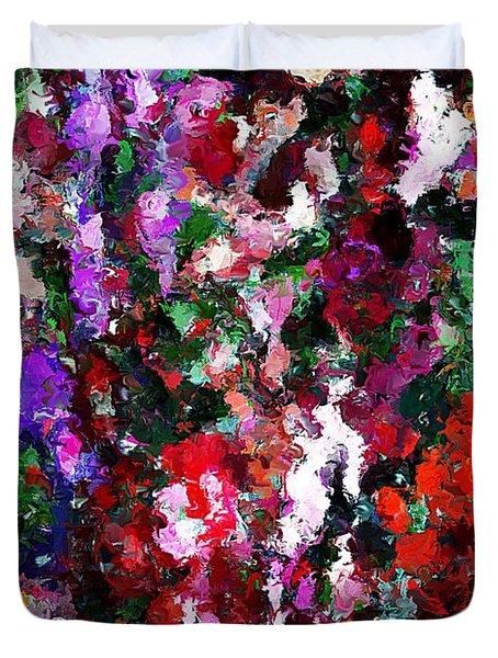 Floral Expression 021015 Duvet Cover by David Lane