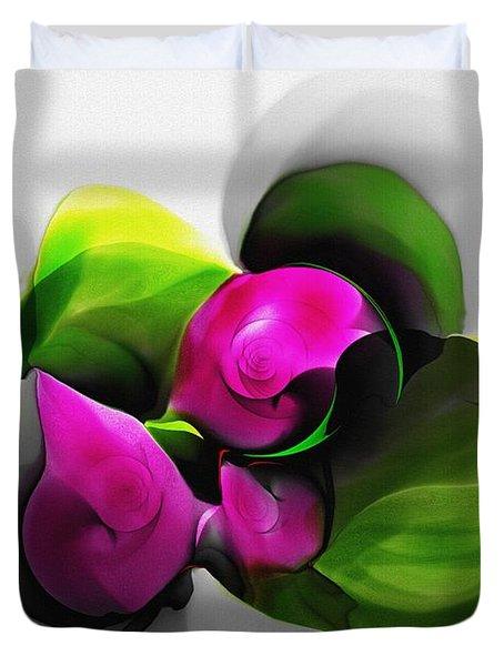 Floral Expression 111213 Duvet Cover by David Lane