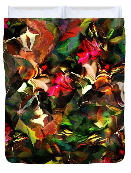 Duvet Cover featuring the digital art Floral Expression 121914 by David Lane