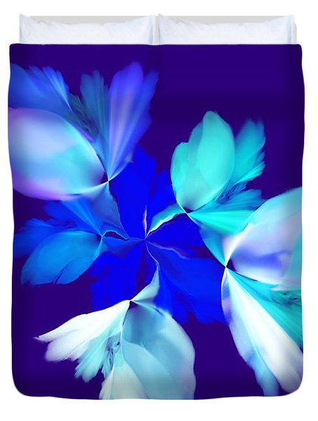 Duvet Cover featuring the digital art Floral Fantasy 012815 by David Lane