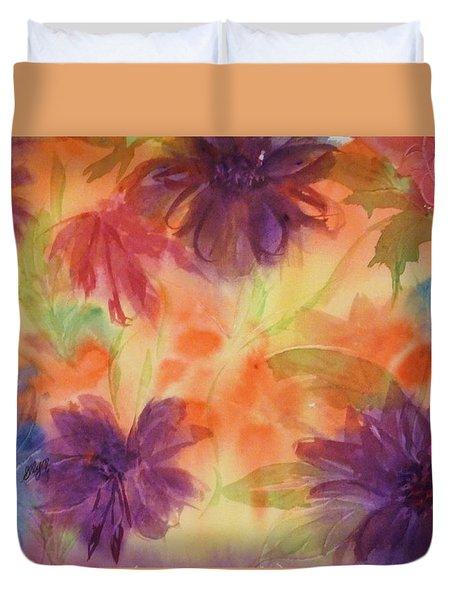 Floral Fantasy Duvet Cover by Ellen Levinson