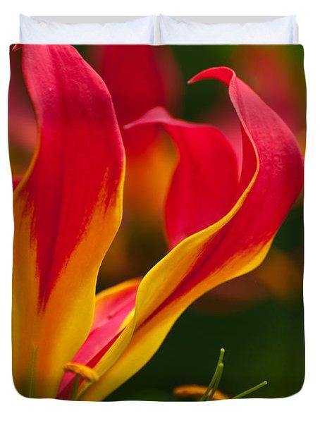 Floral Flames Duvet Cover by Sabine Edrissi