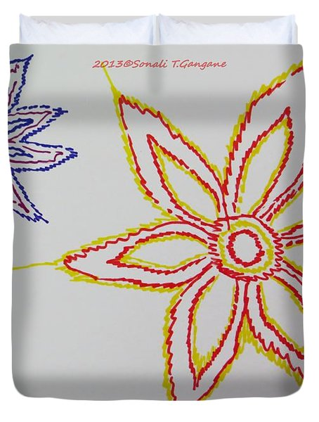 Floral Joy  Duvet Cover by Sonali Gangane