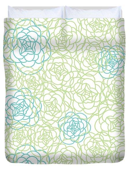 Floral Lines Duvet Cover
