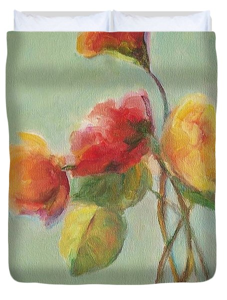Floral Painting Duvet Cover