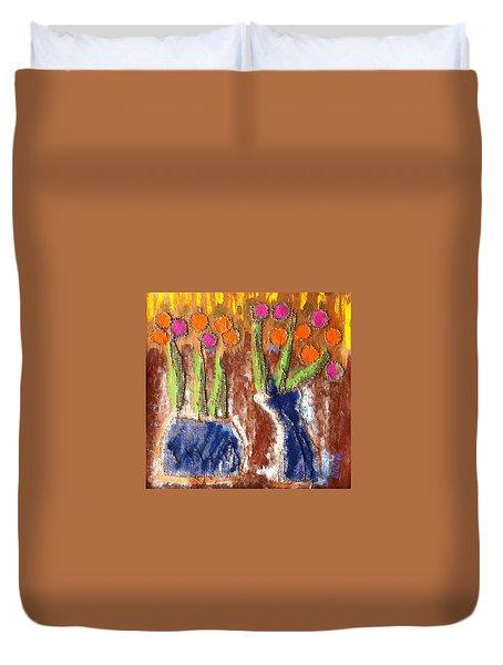 Floral Puffs Duvet Cover