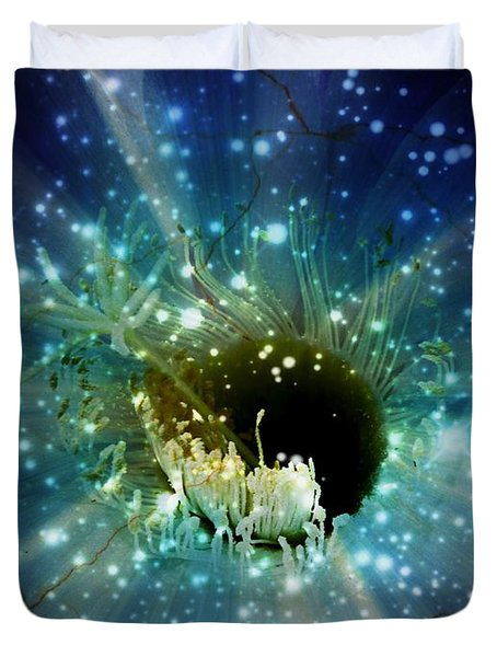 Floral Stratosphere Duvet Cover by Leanne Seymour