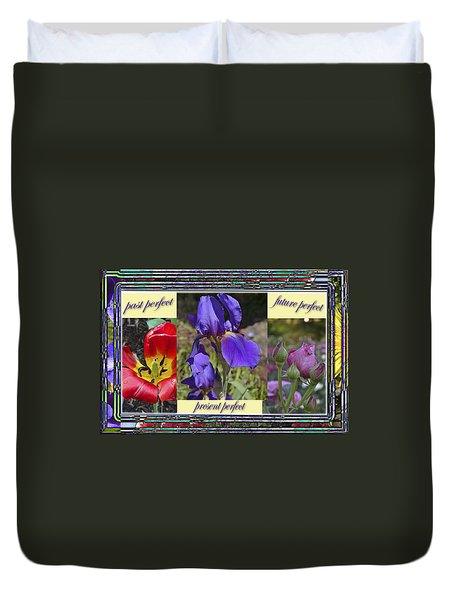Duvet Cover featuring the photograph Floral Tenses by Larry Bishop
