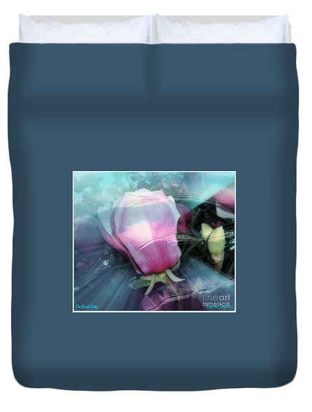 Duvet Cover featuring the photograph Floral Tides by Leanne Seymour