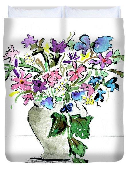 Floral Vase Duvet Cover