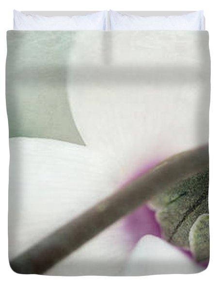 Floral Whites Duvet Cover by Priska Wettstein