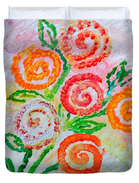 Floralen Traum Duvet Cover by Sonali Gangane
