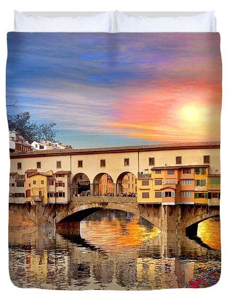 Florence Bridge Duvet Cover by Dominic Davison