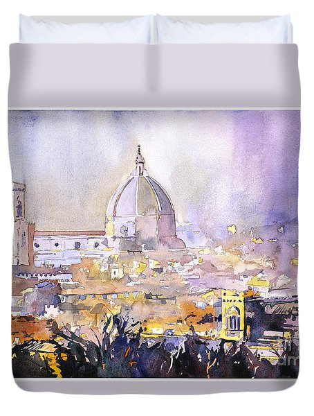 Florence Duomo Duvet Cover by Ryan Fox