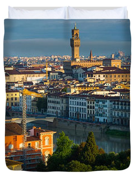 Florence Panorama Duvet Cover by Inge Johnsson