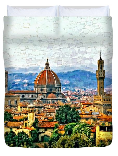 Florence Watercolor Duvet Cover by Steve Harrington