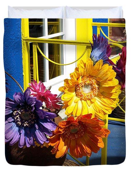 Flores Colores Duvet Cover