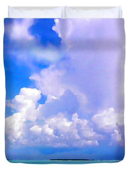 Florida Bay At Shell Pass Filtered Duvet Cover