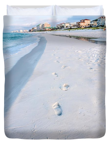 Florida Beach Scene Duvet Cover