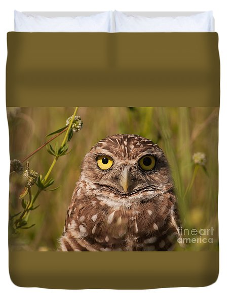 Florida Burrowing Owl Duvet Cover by Paul Rebmann